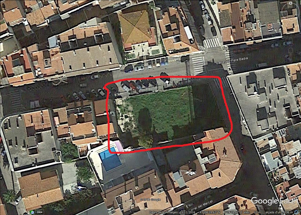 Lage Überbauung Carrer Pere Badia in Torredembarra