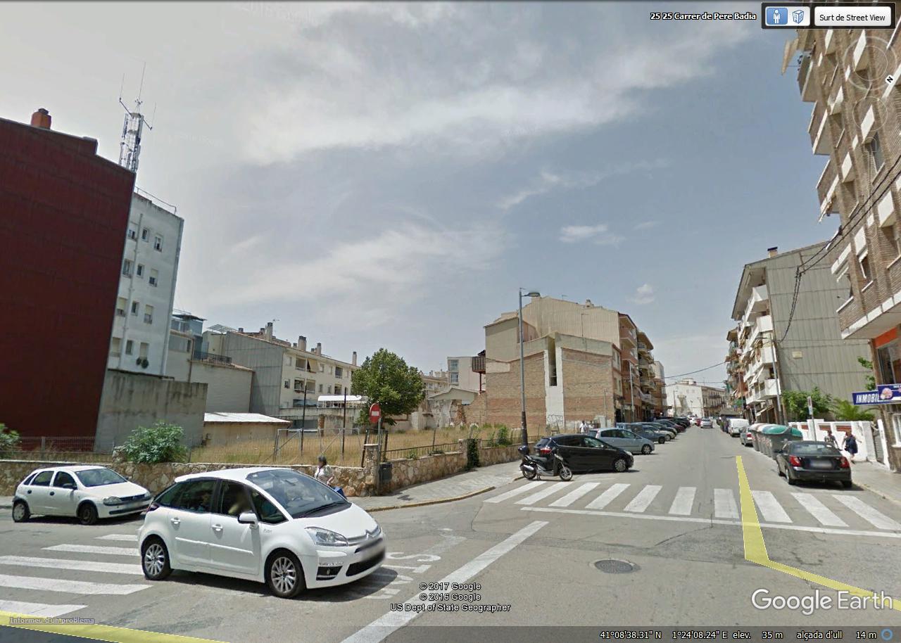 Ansicht Baugrundstück Carrer Pere Badia