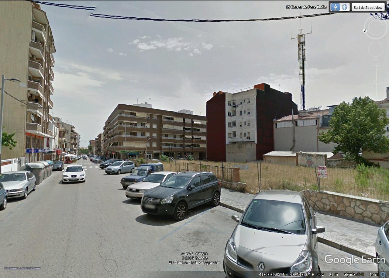 Seitliche Ansicht Baugrundstück Torredembarra