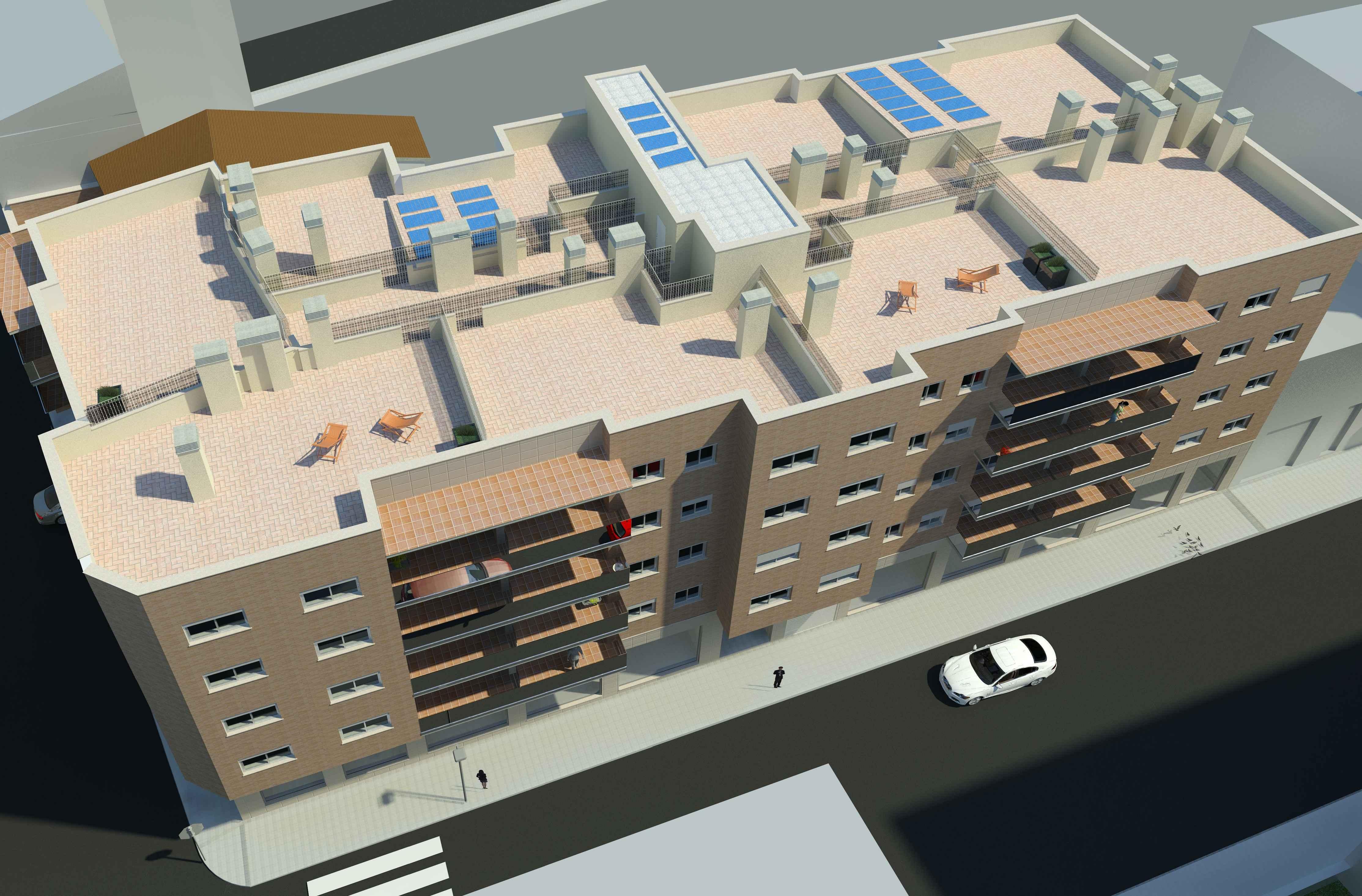 Ansicht von oben zukünftiges Wohngebäude Torredembarra
