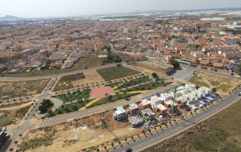 Luftaufnahme mit Park