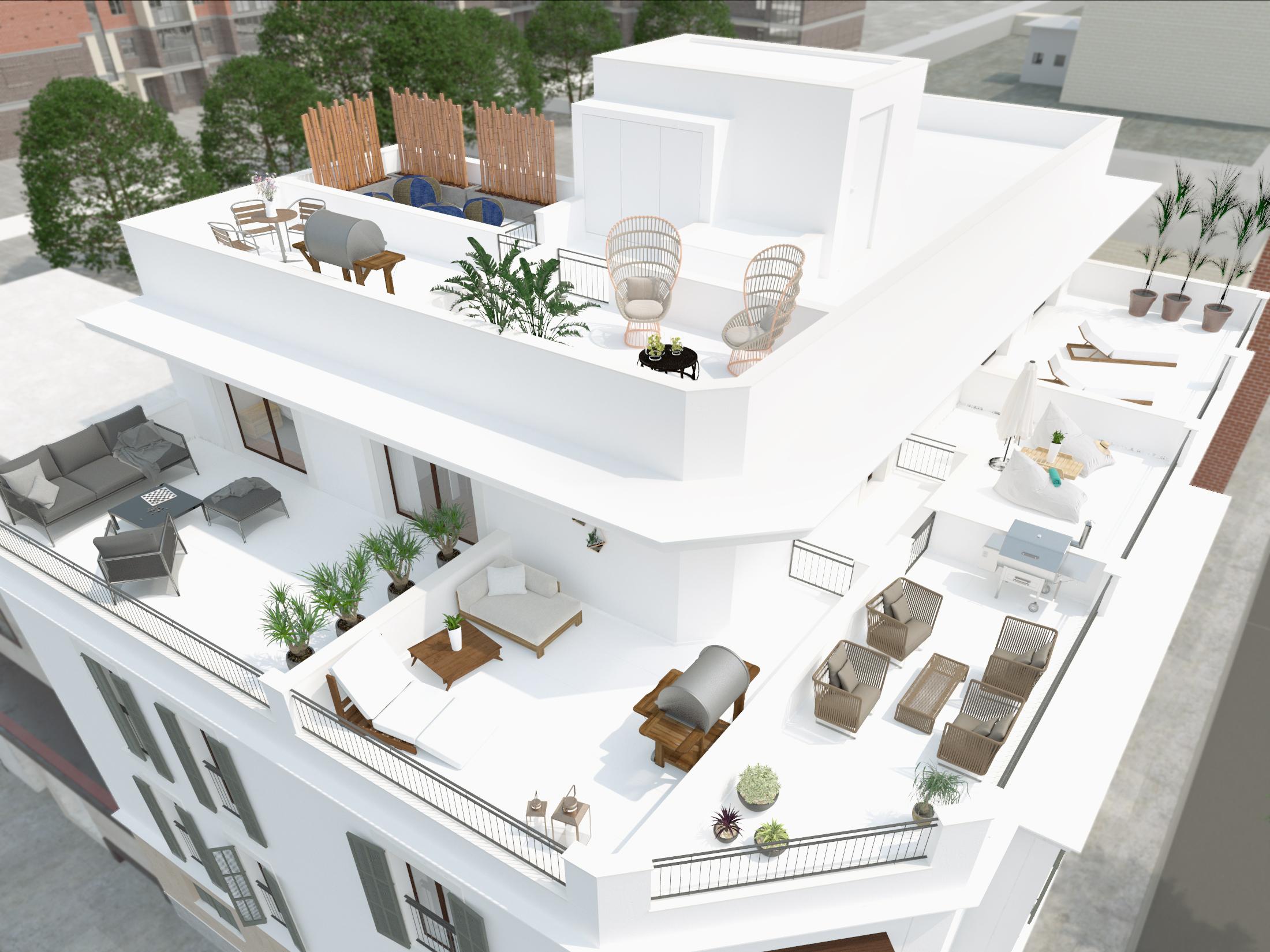 Dachterrassen Wohngebäude Palma