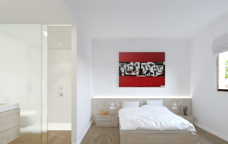 Schlafzimmer neues Wohnhaus Palma de Mallorca