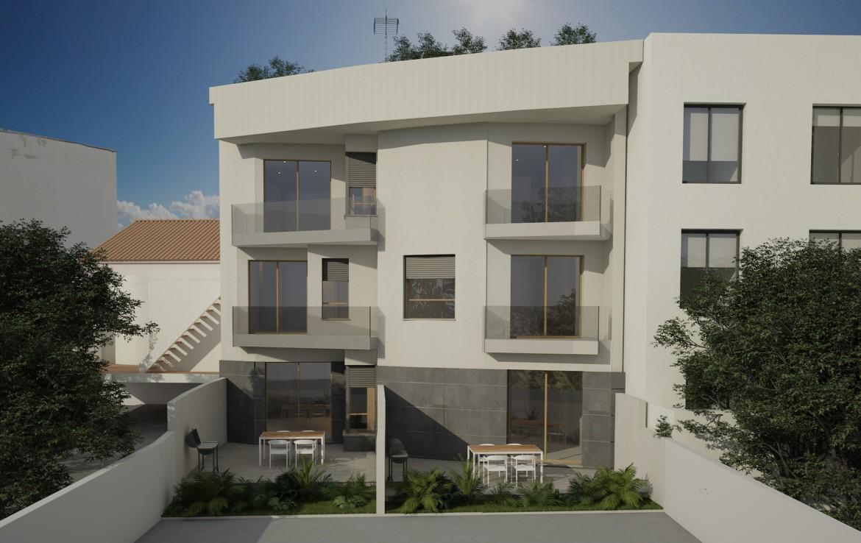 Ansicht von hinten Neubauprojekt in Coll d'en Rabassa
